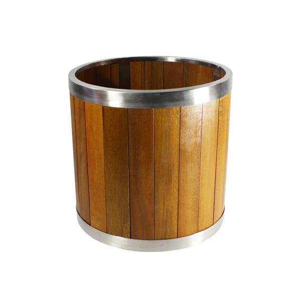 Leisure Season Round Planter - 10-in x 10-in - Wood - Brown