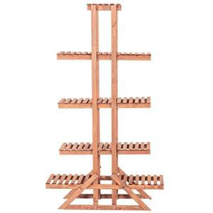 """Support à plantes à 5 niveaux, 33"""" x 57"""", bois, brun"""