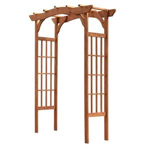 Leisure Season Wooden Arbor - 60'' x 80'' - Wood - Brown