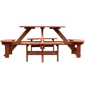 Leisure Season Round Picnic Table - 82-in x 30-in - Cedar - Brown