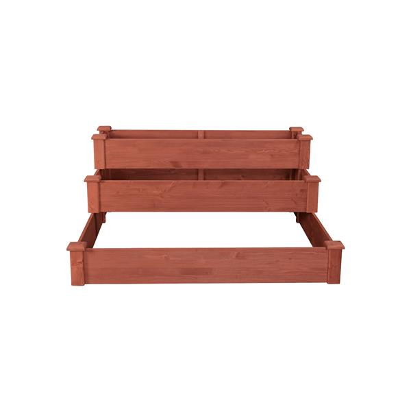 Leisure Season 3-Tier Garden Bed - 48-in x 21-in - Cedar - Brown