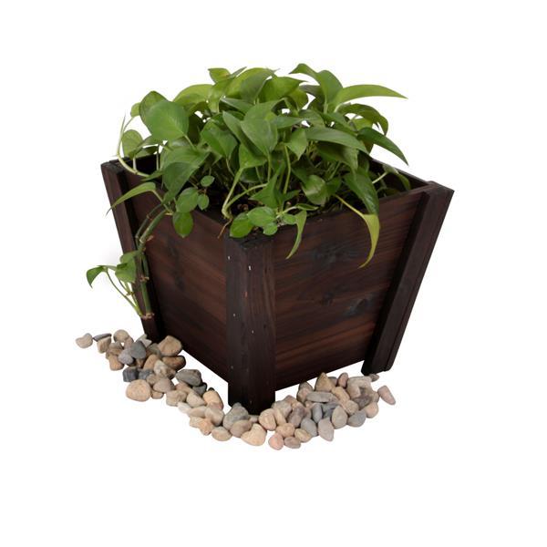 Leisure Season Tapered Planters - 16-in x 13-in - Cedar - Brown