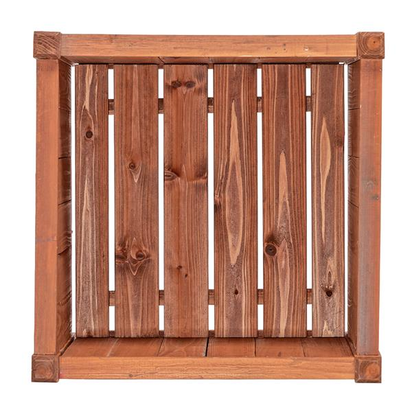 Leisure Season Hampton Square Planter - 16-in x 18-in - Cedar - Brown