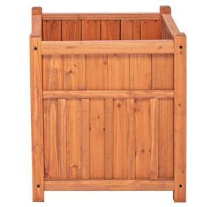 Leisure Season Winchester Square Planter - 16-in x 18-in - Cedar - Brown