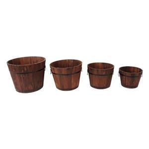 """Jardinières rondes, 18"""" x 14"""", cèdre, brun, 4 mcx"""