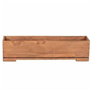 Leisure Season Bristol Rectangular  Planter - 32-in x 8-in - Cedar - Brown
