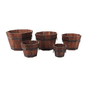 """Jardinières octogonales, 15"""" x 9"""", cèdre, brun, 5 mcx"""