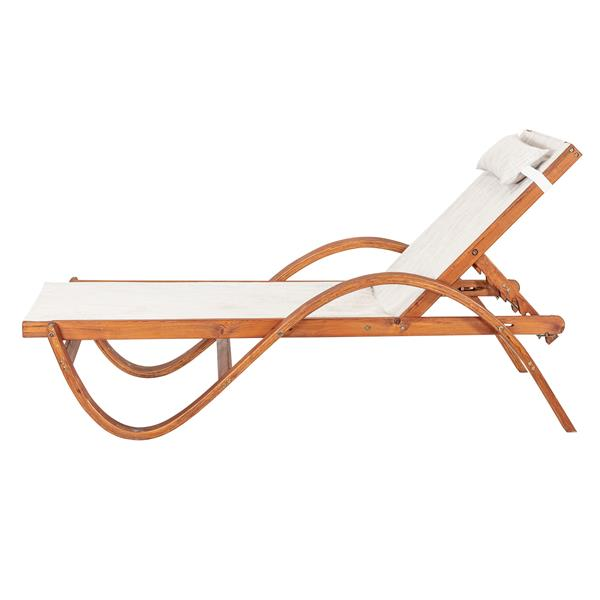 Chaise longue inclinable Sling, 79'' x 27'', bois, brun