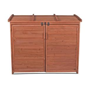 Leisure Season Horizontal Refuse Storage Shed - 65'' x 53'' - Cedar - Brown