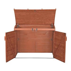 Leisure Season Refuse Storage Shed - 62'' x 48'' - Cedar - Brown