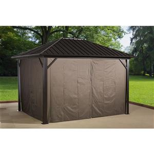 Sojag Genova Privacy Curtains for Sun Shelter - Brown -(4) 10-ft x14-ft