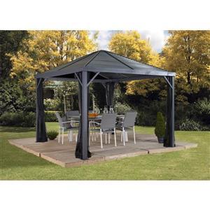 Sanibel Sun Shelter - Roof Galvanized Steel - Grey - 10'x10'