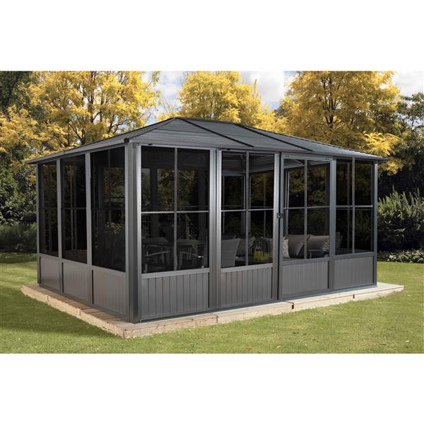 Sojag Korado Rectangular Solarium - Dark Grey - 10-ft x 14-ft