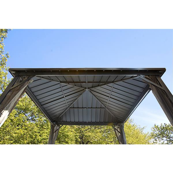 Sojag Dakota Sun Shelter - Galvanized Steel Roof, Brown - 8-ft x8-ft