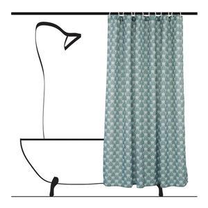 Ensemble de rideau de douche géometrique, 14 mcx, gris