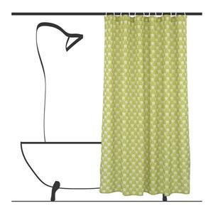Ensemble de rideau de douche géometrique, 14 mcx, vert olive