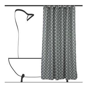 Ensemble de rideau de douche géometrique, 14 mcx, vert