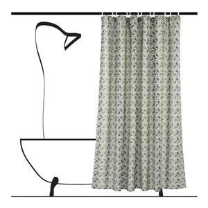 Ensemble de rideau de douche chevron, 14 mcx, gris/beige