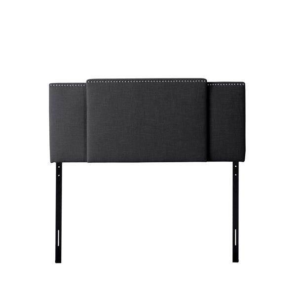 "CorLiving Expandable Panel Headboard - Dark Grey Fabric - 58"" à 80"""