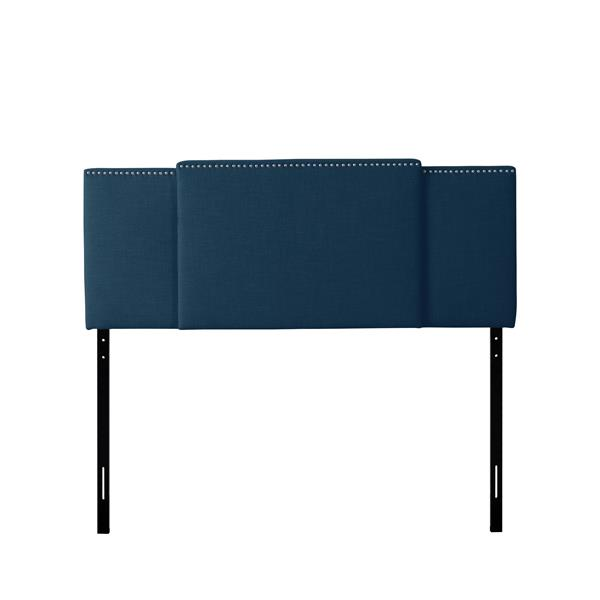 "CorLiving Expandable Panel Headboard - Navy Blue Fabric - 58"" à 80"""
