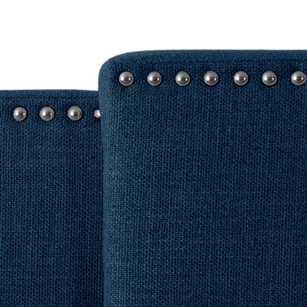 "Expandable Panel Headboard - Navy Blue Fabric - 58"" à 80"""