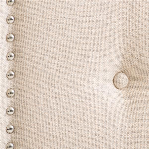 CorLiving Headboard with Button Tufting- Cream- King
