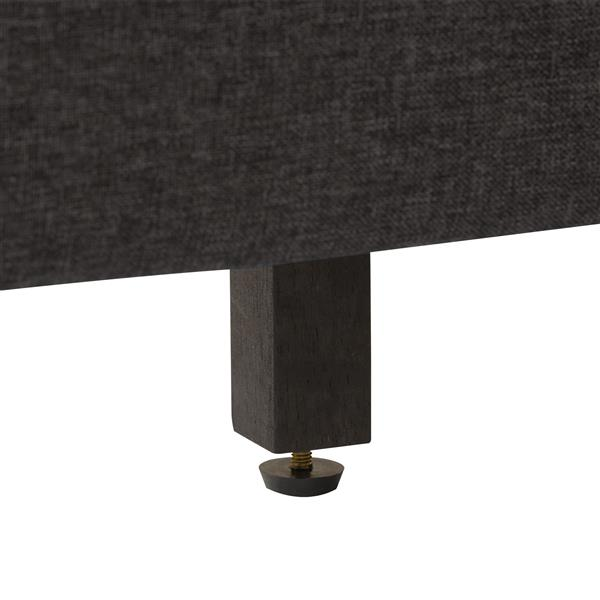 CorLiving Diamond Button-Tufted Bed - Dark Grey Fabric  - Double