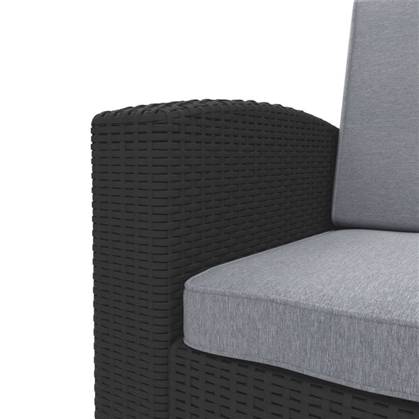 CorLiving All-Weather Loveseat Patio Set - Black - 2-piece