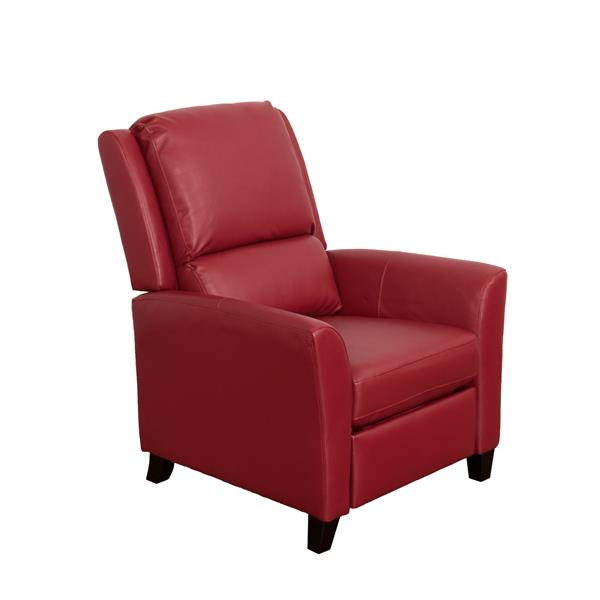 CorLiving Bonded Leather Recliner - Red