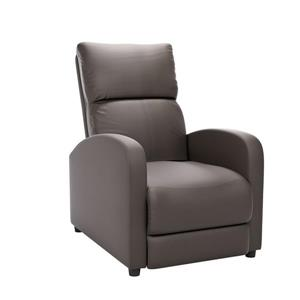 CorLiving Moor Bonded Leather Recliner - Brownish-Grey