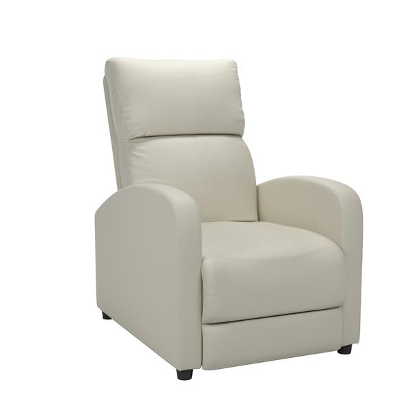 CorLiving Moor Bonded Leather Recliner - White