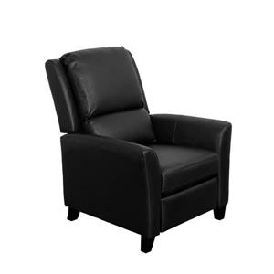 CorLiving Kate Bonded Leather Recliner - Black