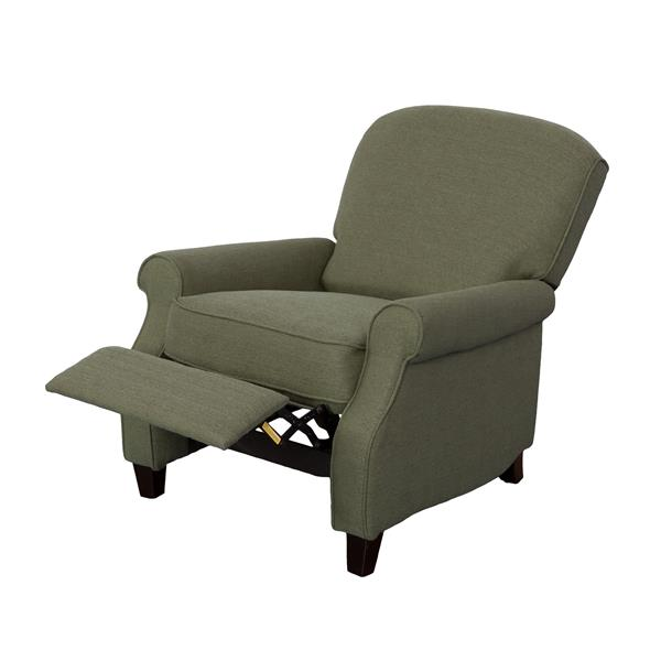 CorLiving Noah Linen Fabric Recliner - Greenish-Grey