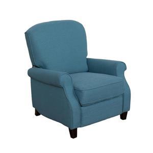 CorLiving Noah Linen Fabric Recliner - Blue