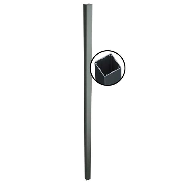 "Stratco Quick Screen Aluminum 1 wayPost - 94"" x 2.5"" - Slate Grey"