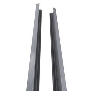 """Cadre latéral en aluminium Quick Screen, 2"""" x 71"""", gris"""