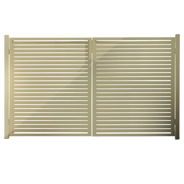 Stratco Quick Screen Aluminum Gate - 40-in x 71-in - Beige