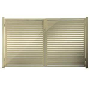 Stratco Quick Screen Aluminum Gate - 40-in x 71-in - Beige