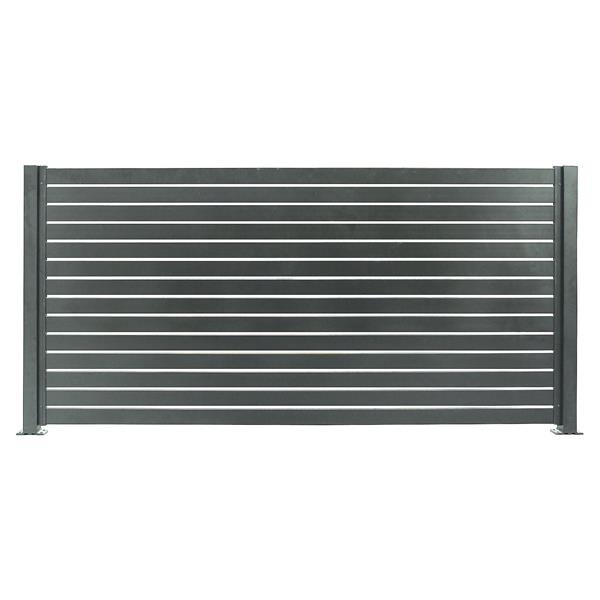 Stratco Quick Screen Aluminum Fencing Kit - 94-in x 71-in - Slate Gray