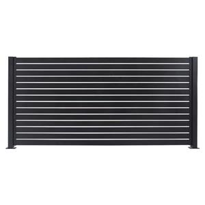 Stratco Quick Screen Aluminum Fencing Kit - 94-in x 71-in - Black