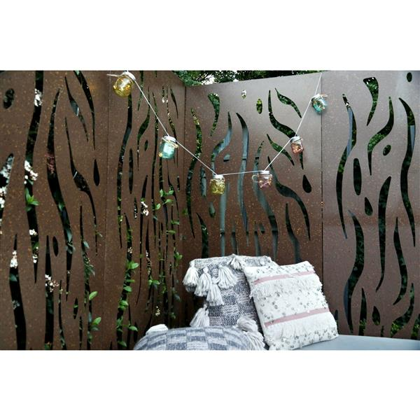Stratco Kelp Aluminum Privacy Screen/Wall Art - 48-in x 24-in - Brown
