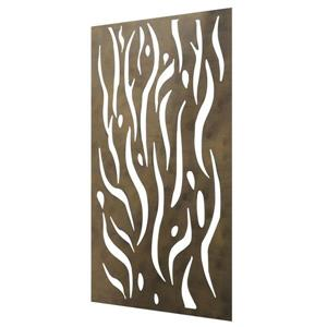 Kelp Aluminum Privacy Screen/Wall Art - Brown