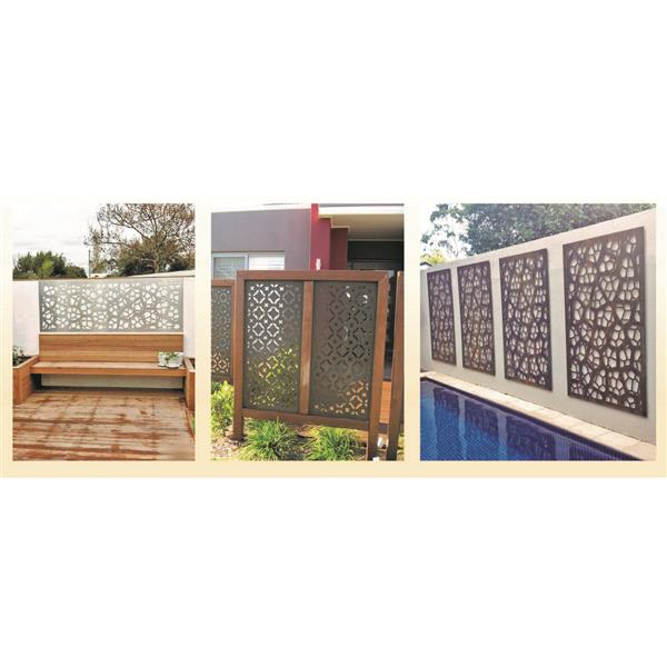 STRATCO Forest Aluminum Privacy Screen/Wall Art - Brown | RONA