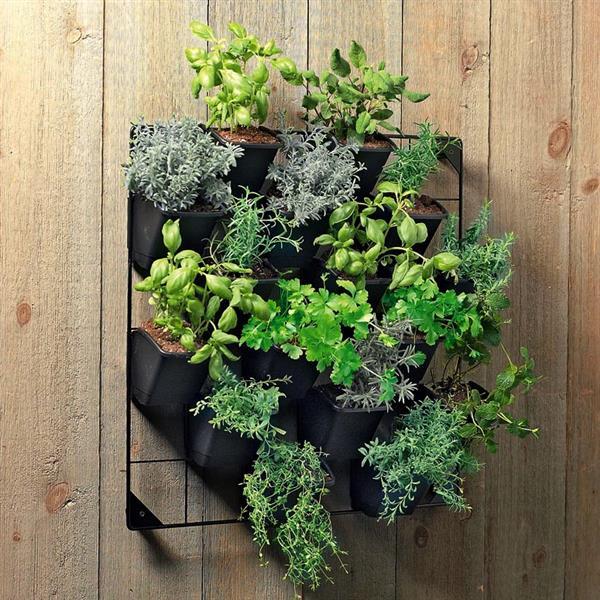 Stratco Plastic Vertical Wall Garden - Black