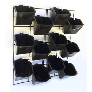 Mur de jardin vertical en plastique, noir