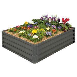 Aluminum Raised Garden Bed - Slate Gray