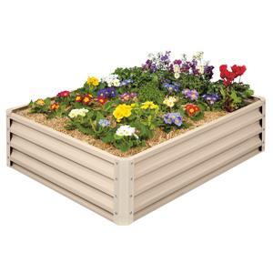 Aluminum Raised Garden Bed - Beige