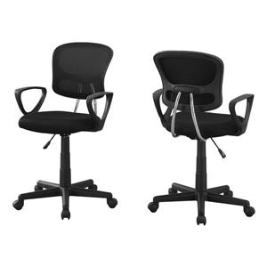 Monarch Kids Mesh Office Chair - Black