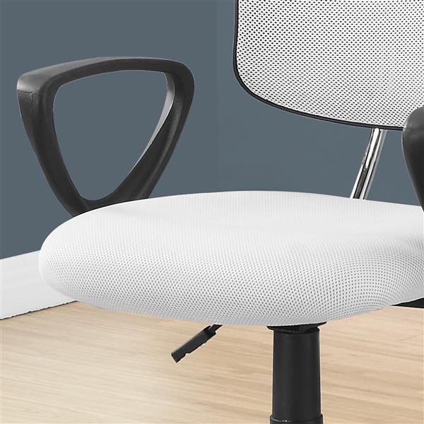 Monarch Kids Mesh Office Chair - White