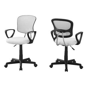 Monarch Kids Mesh Office Chair - White